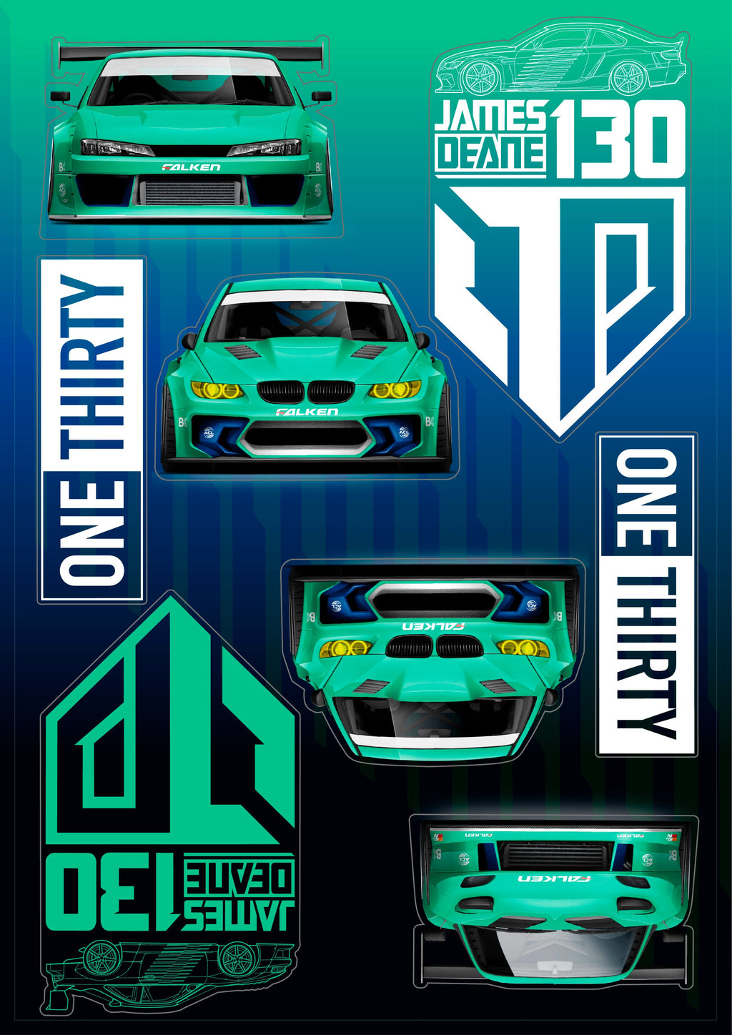 Sticker Set - Front & Side Profile