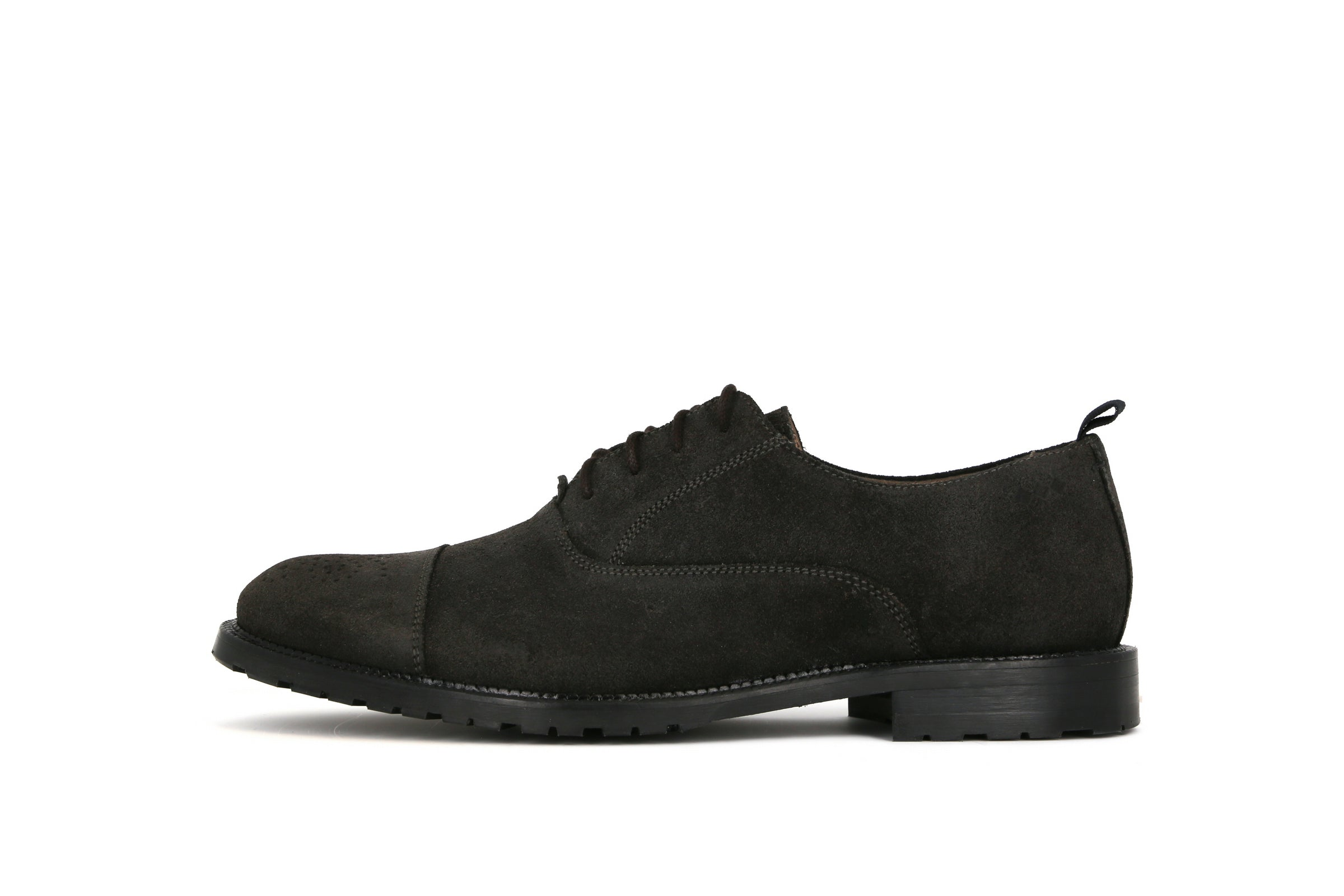 Alias City Hiker Brogue Oxford Shoe Suede