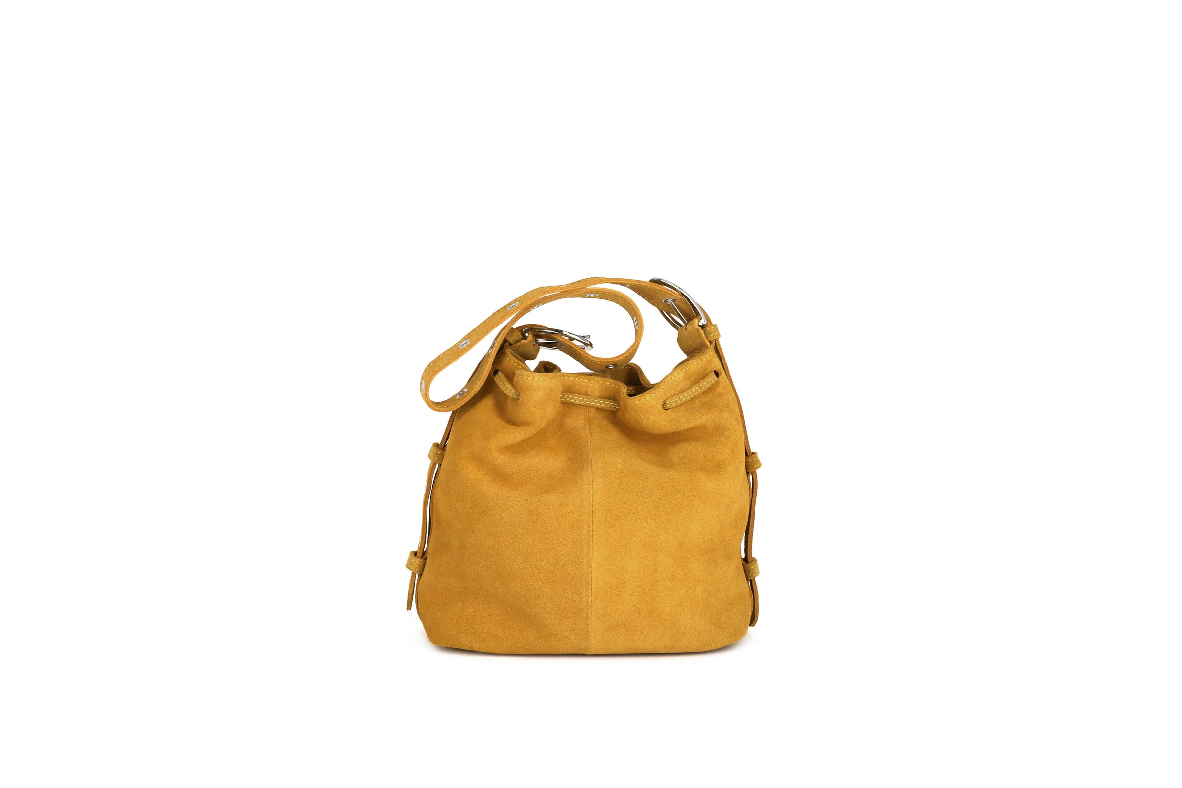 Warrior Bucket Evening Bag Suede
