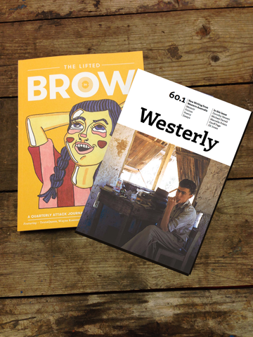 dual subscription: The Lifted Brow + Westerly (one year)