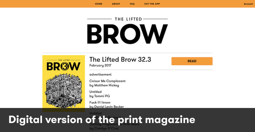 digital version of the print magazine