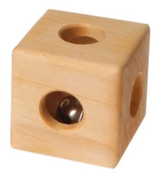 Wooden Cube Rattle