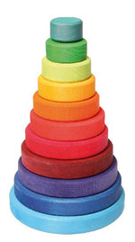Conical Stacking Tower in Rainbow or Pastel