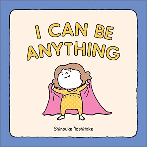 A book cover with a little girl on it holding a pink blanket like a superhero cape