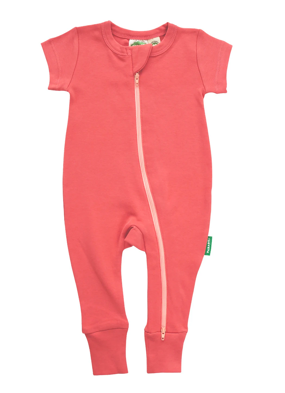 Essential Basic 2-Way Zippy Romper Apricot