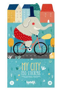 Repositionable My City Stickers