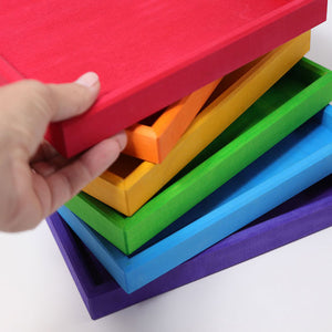 Set of Six Wooden Rainbow Frames