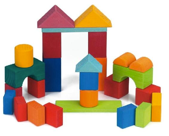Colourful Blocks with Geometric Shapes