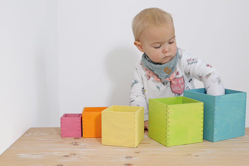 Grimm's Pastel Stacking Boxes