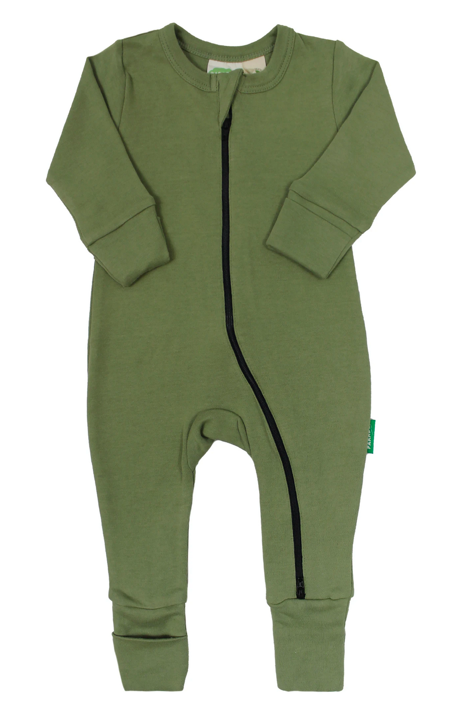 Essential Basic 2-Way Zippy Romper Olive