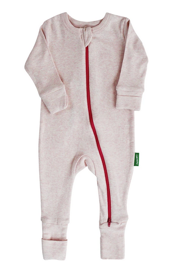 Essential Basic 2-Way Zippy Romper Pink Melange