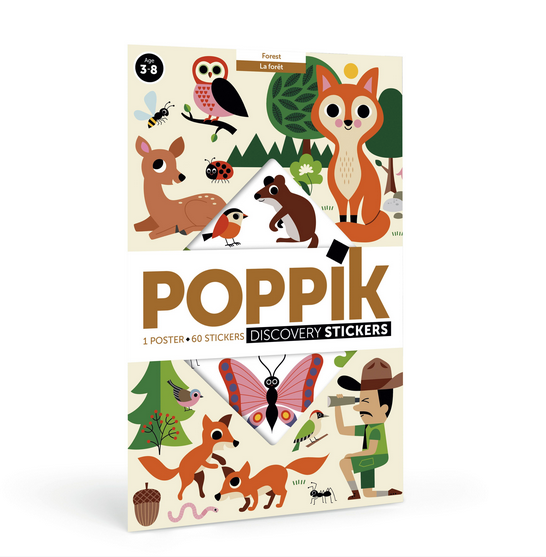 Poppik Giant Poster with 44 Stickers Forest