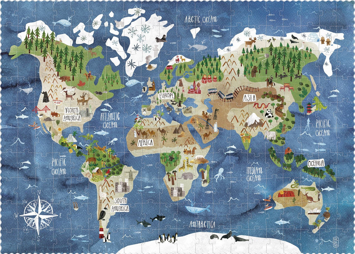 Discover the World 200 pc Puzzle