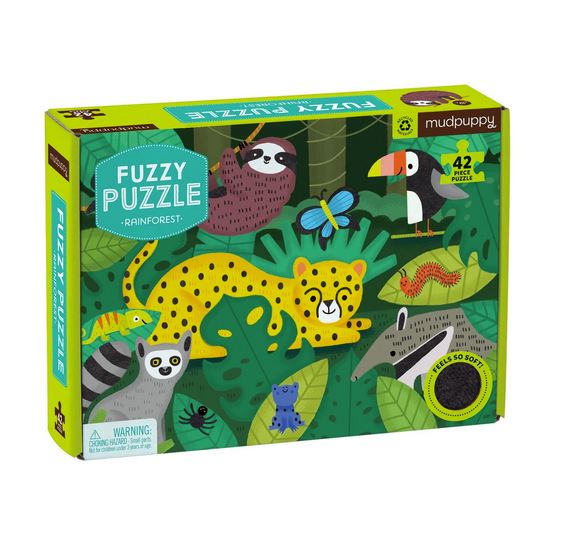 Rainforest 42 pc Fuzzy Puzzle