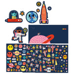 Repositionable Space Stickers