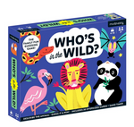 A dark blue game box with jungle animals on it on top of the white background.
