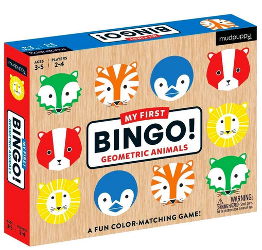 A game box with colourful animals all over it on a white background.