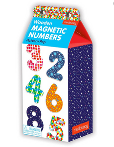 milk carton container on a white background with colourful numbers on the box
