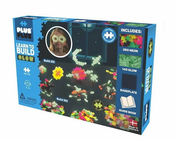 Plus Plus - Learn to Build Glow in the Dark 400 pc Set