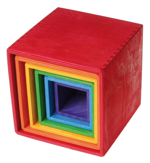 Grimms Stacking Boxes Rainbow or Pastel