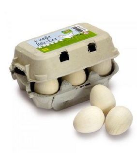 Half a Dozen Eggs in a Carton, Brown or White