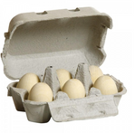 Half a Dozen Eggs in a Carton