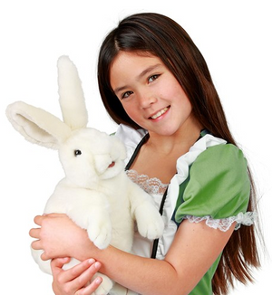 Standing White Rabbit Puppet