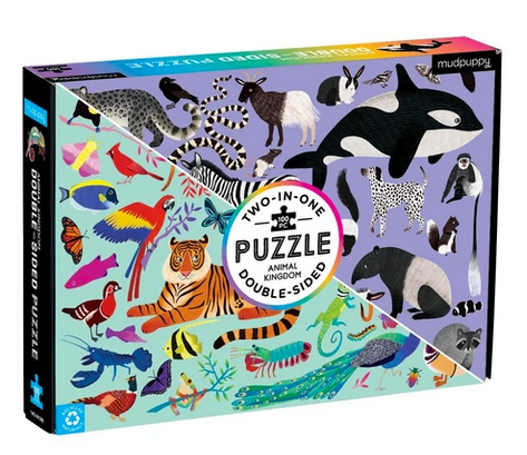 Animal Kingdom 2-Sided Puzzle 100 pc