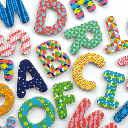 Pattern Pop Magnetic Letters