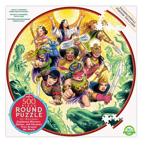 Goddesses and Warriors Round 500 pc Puzzle