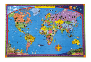 World Map 100pc Puzzle