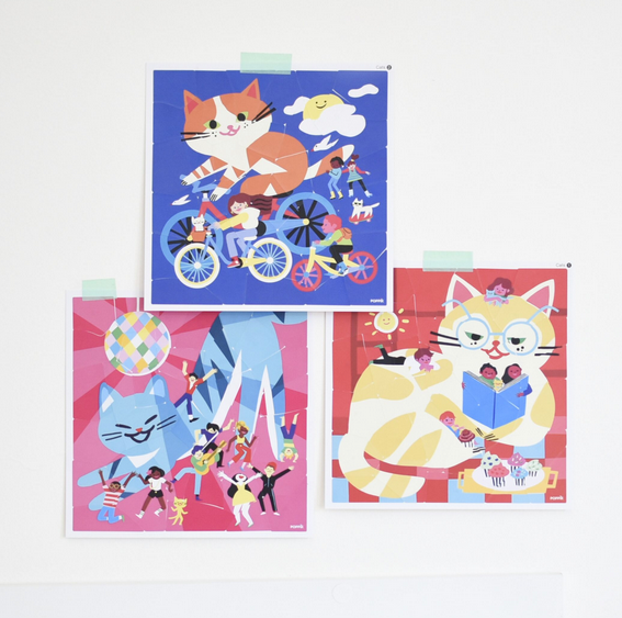 Poppik Cats Sticker Puzzles