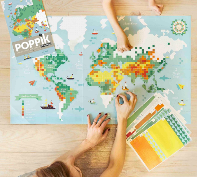 Poppik Sticker Poster World Map