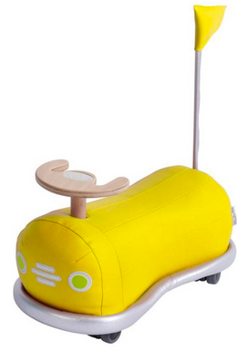 Les Bubbles Yellow Ride-on Bumper Car