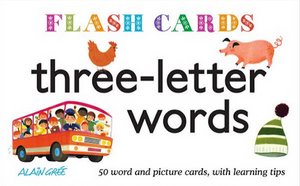 Three Letter Words Flash Cards