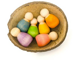 Baby Nins Set of 6 with Coconut Shell