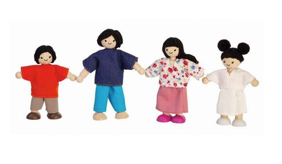 Asian Dollhouse Family