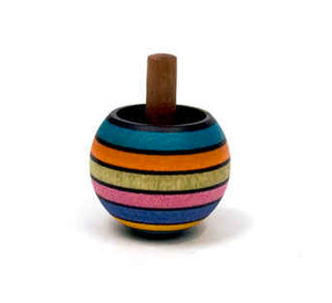 Upside Down Striped Spinning Top