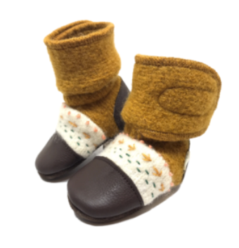 Nooks Wool Booties Golden Spruce
