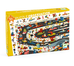 Car Rally 54 pc Observation Puzzle