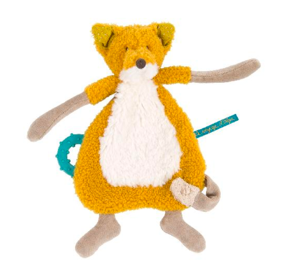 Voyage D'Olga Fox Cuddle Toy with Pacifier Holder