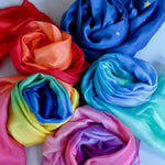 colourful silks wrapped in coils