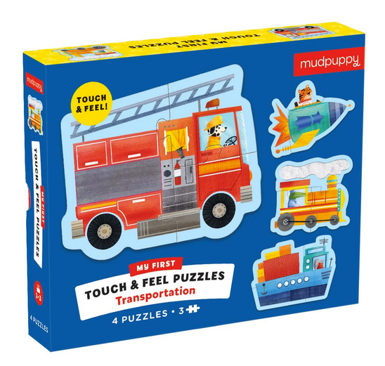 My First Touch & Feel Puzzles - Transportation
