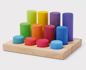 Rainbow Sorting Board with Rollers