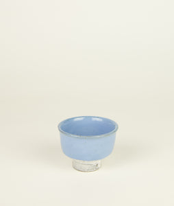 Guinomi 2 with Blue glaze by Matthias Kaiser