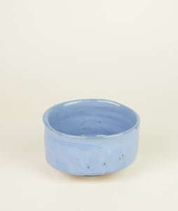 Chawan with Blue glaze by Matthias Kaiser