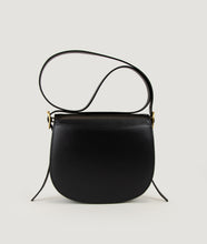 Load image into Gallery viewer, Sagan Vienna, unique handbag, bibliothéque, black, Italian smooth calf leather, cow horn