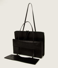 Load image into Gallery viewer, Modular laptop bag nero di seppia