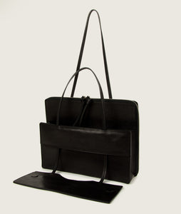 Modular laptop bag nero di seppia