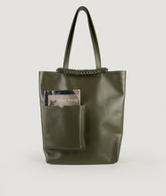 Load image into Gallery viewer, Pazar Book Tote Olive Green